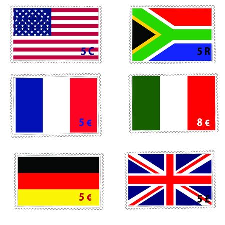 collectibles: flag postage stamps