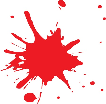paint drips: red color splat
