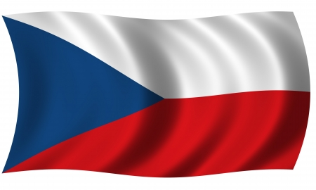 Flag of Czech in waves Stock Photo - 13624432