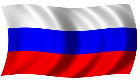 russia flag: Flag of Russia in waves Stock Photo