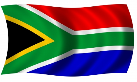 Flag of south africa in waves photo