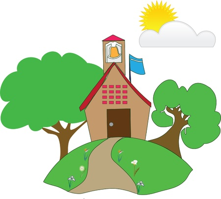 house in a rural area Vector