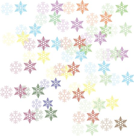 miraculous: snow flakes background Illustration