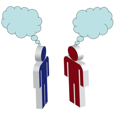 two people thinking Stock Vector - 13700264