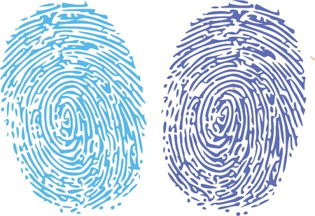 thumbprint comparison Vector