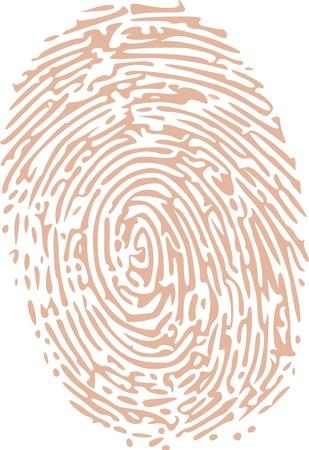 odcisk kciuka: Odcisk kciuka w barwą skóry Ilustracja