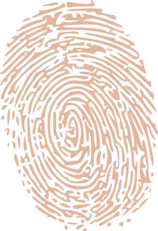 fingerprinted: thumbprint in skin tone color