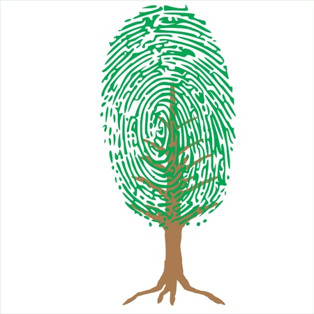 thumb print: unique green plant