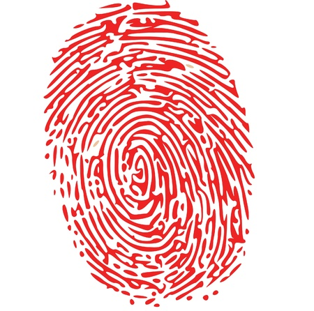 fingerprinted: red thumbprint