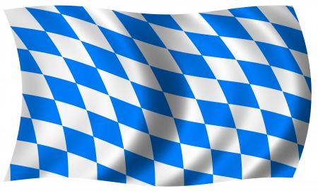 bavaria flag in wave photo