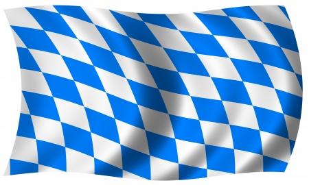 german tradition: bavaria flag in wave