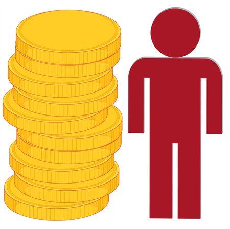 wealth accumulation Vector