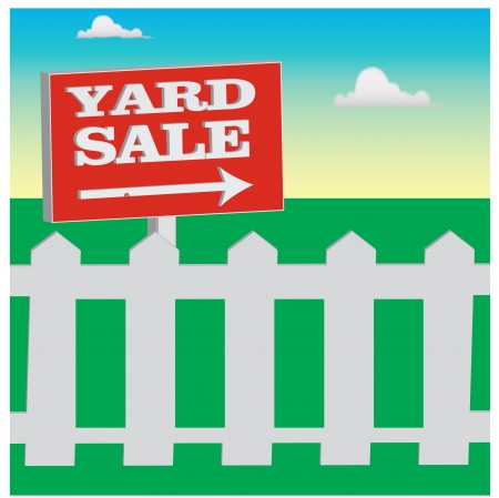 yard sale sign Vector