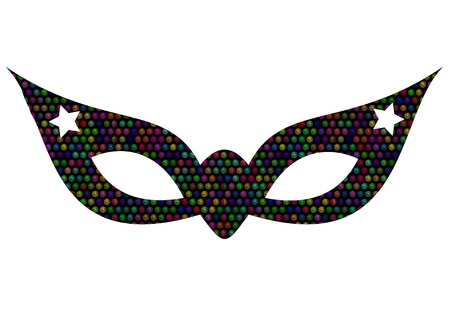 mardigras mask with shiny colorful beads photo