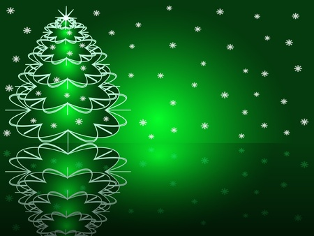 Vector illustration:  Christmas abstract fur-tree  Vector
