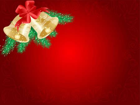 Vector Christmas illustration: hand bells Stock Vector - 11246457