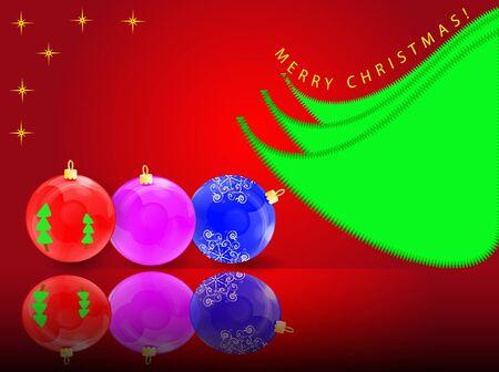 furtree: Vector Christmas illustration: fur-tree spheres