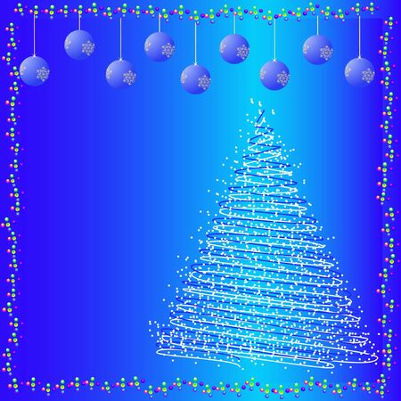 Vector abstract Christmas fir-tree Stock Vector - 11407875