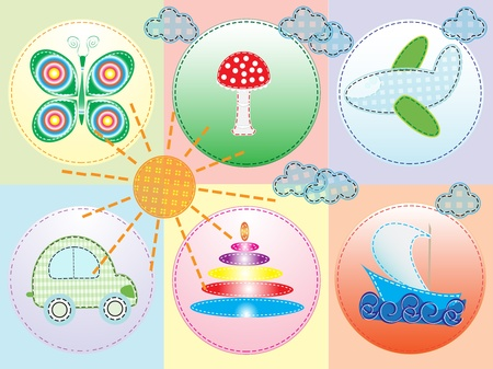 Vector Illustration: vector collection of toys Stock Vector - 11407893