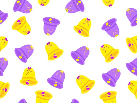 Vector seamless pattern color hand bells Vector