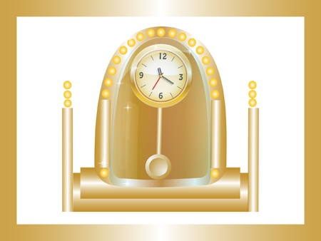 gold watch:  vector illustration gold watch