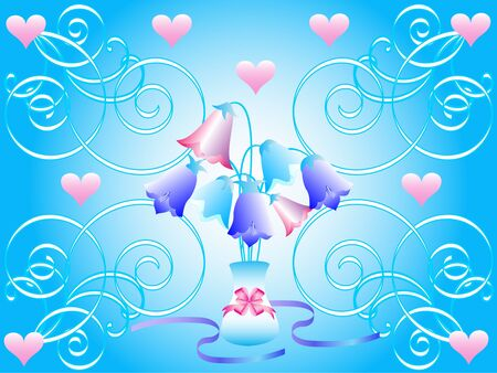 abstract floral vector illustration Valentine Vector