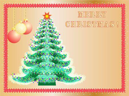 firtree:  Christmas background  celebratory fir-tree