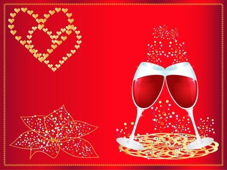 dinner date: Giorno illustrazione vettoriale di San Valentino Vettoriali