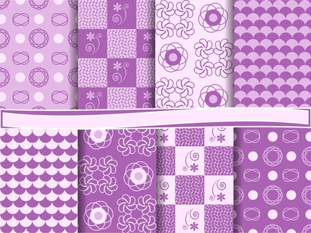 vector set of abstract  scrapbook Vector
