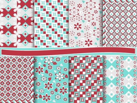 clippings: Abstract vector set of scrapbook paper