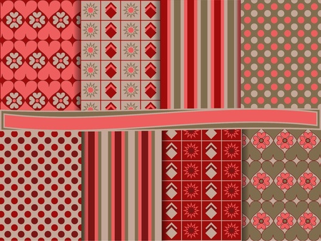 Abstract vector set of scrapbook paper Stock Vector - 12496395