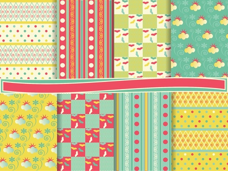 vector set of scrapbook paper  Stock Vector - 12932070