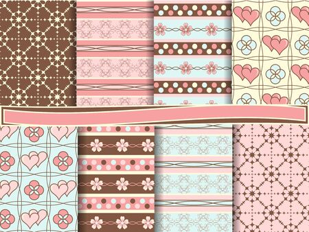 vector set of scrapbook paper Stock Vector - 12932074