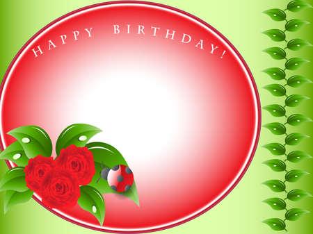 Vector Illustration  Birthday greeting card Vector