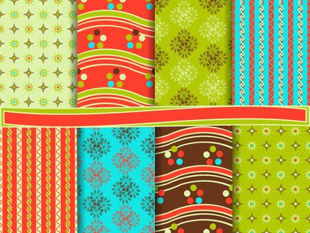 clippings: Abstract set of scrapbook paper