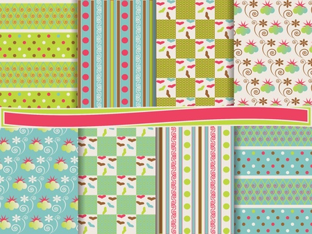 vector set of scrapbook paper Stock Vector - 13379763