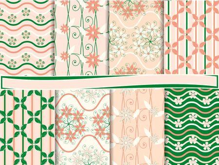 abstract floral vector set of scrapbook paper Stock Vector - 13485929