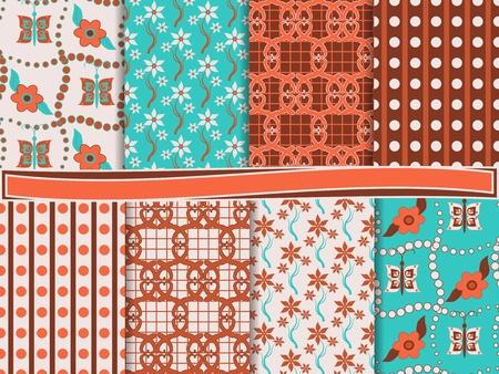 abstract floral vector set of scrapbook paper Stock Vector - 13485931