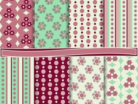 abstract vector set of scrapbook paper Stock Vector - 13538499