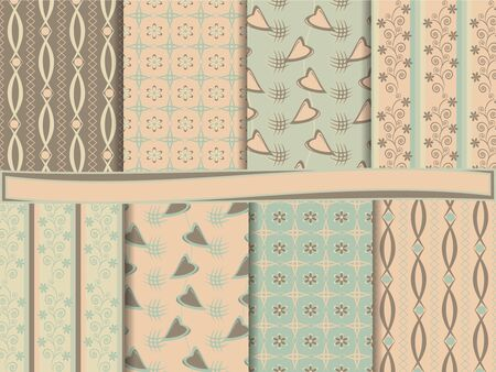 Abstract set of scrapbook paper Vector
