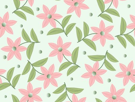 seamless floral Vector