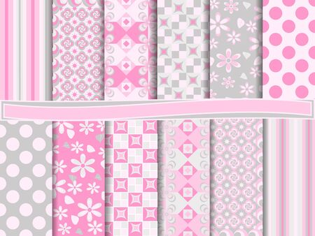 wallpaper pattern: Abstract set of scrapbook paper