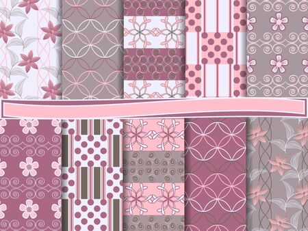 Abstract  set of scrapbook paper Stock Vector - 14028427