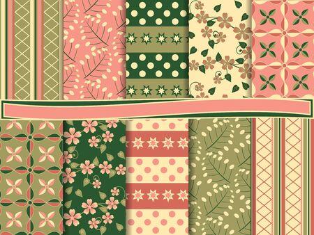 Abstract set of scrapbook paper Stock Vector - 14118262