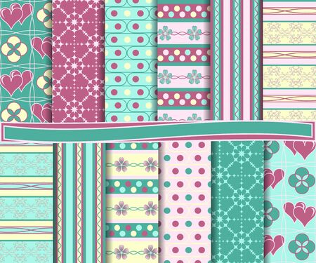 set form:  set of scrapbook paper Illustration