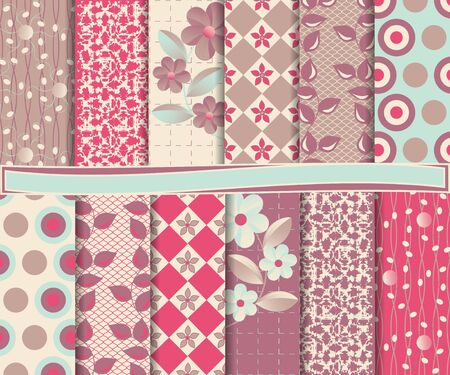 set of scrapbook paper Stock Vector - 14924360