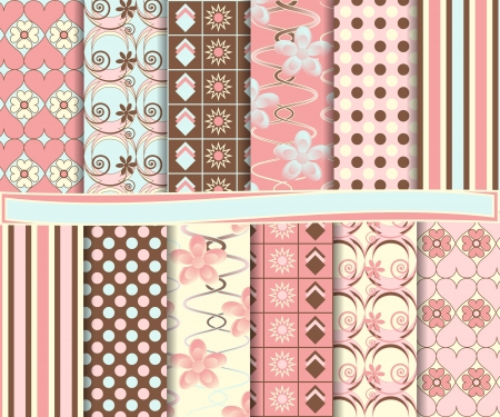 set of scrapbook paper Vector