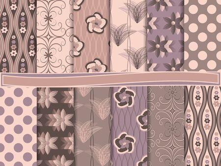 set of scrapbook paper Vector