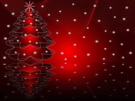 Christmas abstract fur-tree Stock Vector - 14976770