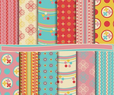 abstract  set for scrapbook Vector